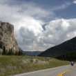 On the road to Yellowstone National Park — Stock Photo