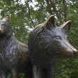 Royalty-Free Stock Photo: Sculpture of wolves