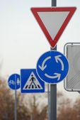 Accumulation of traffic-signs in Germany — Stock Photo