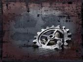 Grunge gear wheel — Stock Photo