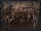 Grunge dead trees — Stock Photo