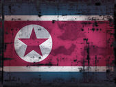 Grunge north korea flag — Stock Photo