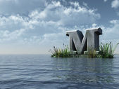 Letter m monument — Stock Photo