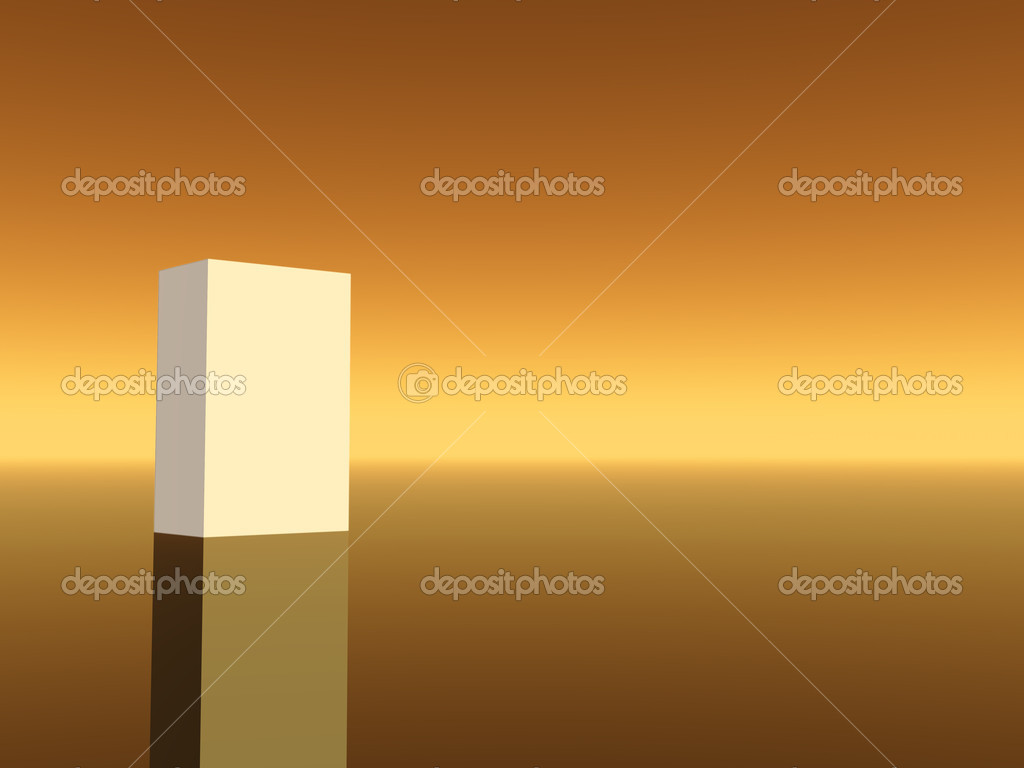 White box on warm brown background- 3d illustration — Stock Photo #1573638