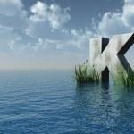 Letter K — Stock Photo #1583107