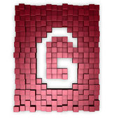 Cubes makes the letter g — Stock Photo