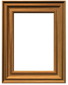 Wooden pictureframe on white background — Stock Photo