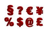 Red symbols — Stock Photo