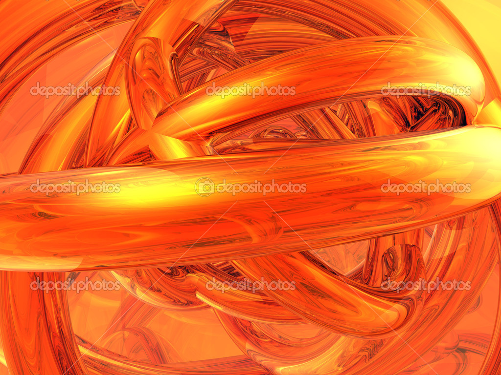 Abstract background with rings in copper - 3d illustration — Stock Photo #1634732