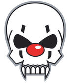 Clown skull — Stock Photo