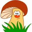 Stock Photo: Comic mushroom