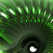 Stock Photo: Green abstract thing