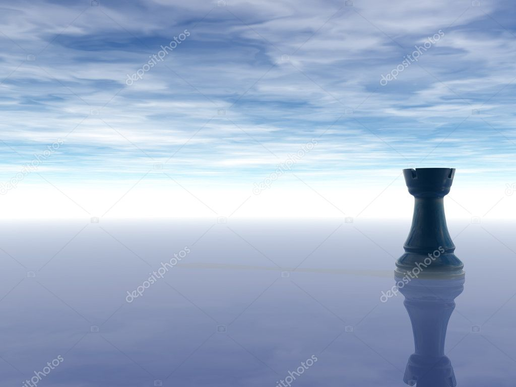 Rook Chess Wallpaper Black Chess Rook on Cloudy
