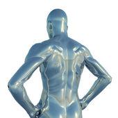 Chrome man figure - 3d illustration — Stock Photo