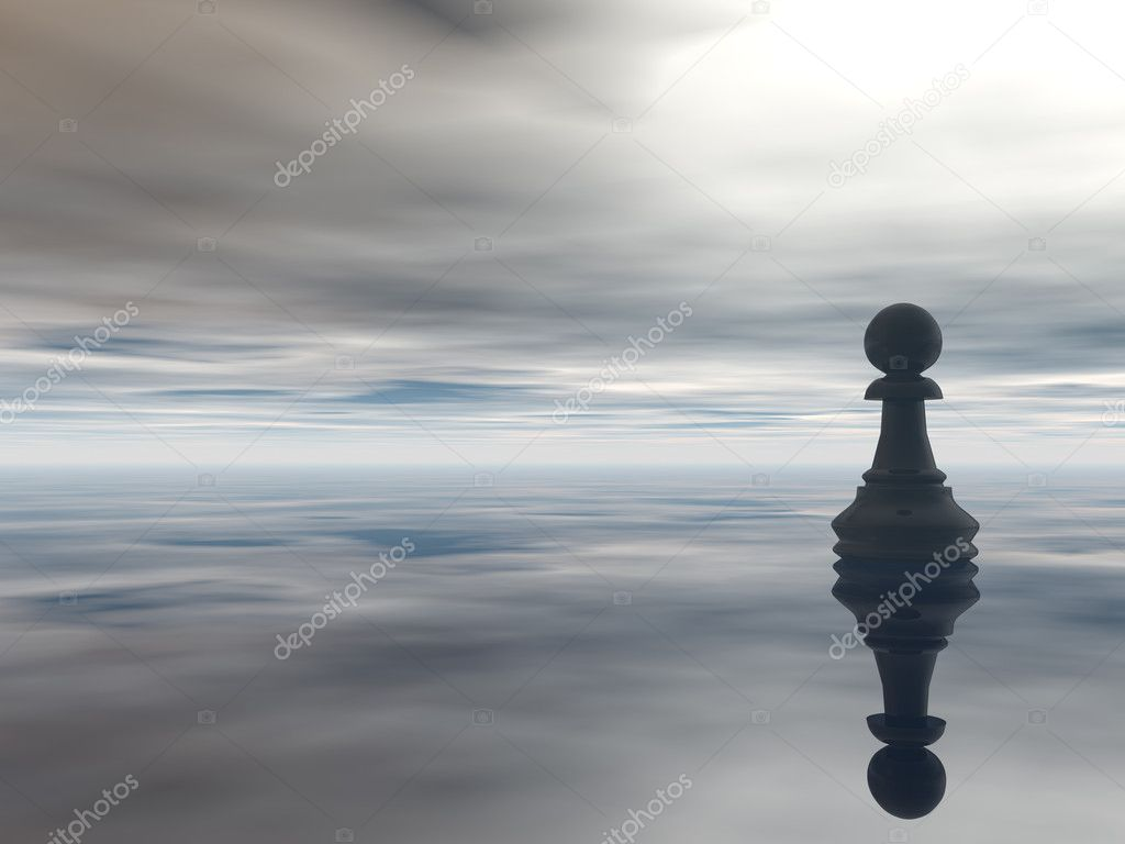 Rook Chess Wallpaper Chess Pawn And Cloudy Sky 3d
