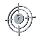 Gun sight with question mark — Stock Photo