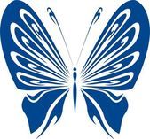 Butterfly vector illustration — Vector de stock