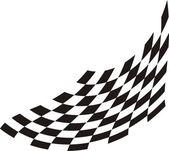 мчащийся флаг — Cтоковый вектор