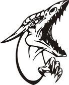 Dragon vector — Stock Vector