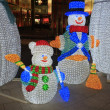 Stock Photo: Snow Men Well lit up