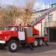 Stock Photo: RED FIRE ENGINE ZIL