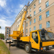 Heavy mobile crane truck — Stock Photo #1523831