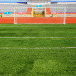 STADIUM - Football field with goal — Stock Photo #1528348