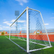 Stock Photo: STADIUM - Football field with goal