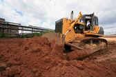 The heavy building bulldozer — Stock Photo