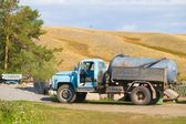 A Fuel Water Tanker Truck — Stock Photo