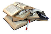 Opened book with pages isolated — Stock Photo