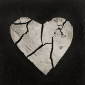 Broken heart artwork — Stock Photo