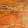 Stock Photo: Orange abstract painting