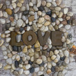 Love on Pebble — Stock Photo