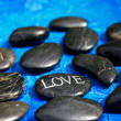 Royalty-Free Stock Photo: Love and stones