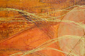 Orange abstract painting — Stock Photo