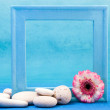 Stock Photo: Blue frame