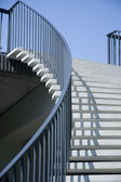 Stairway in front of blue sky — Stock Photo