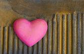 Hearts on rust — Stock Photo