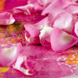 Stock Photo: Petal on artwork background
