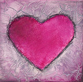 Painting of pink heart — Stock Photo