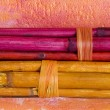 Colorful bamboo sticks - Stock Photo