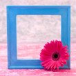 Blue frame — Stock Photo