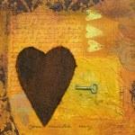 Heart collage illustration — Stock Photo