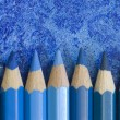 Blue pencil crayons — Stock Photo #1758026