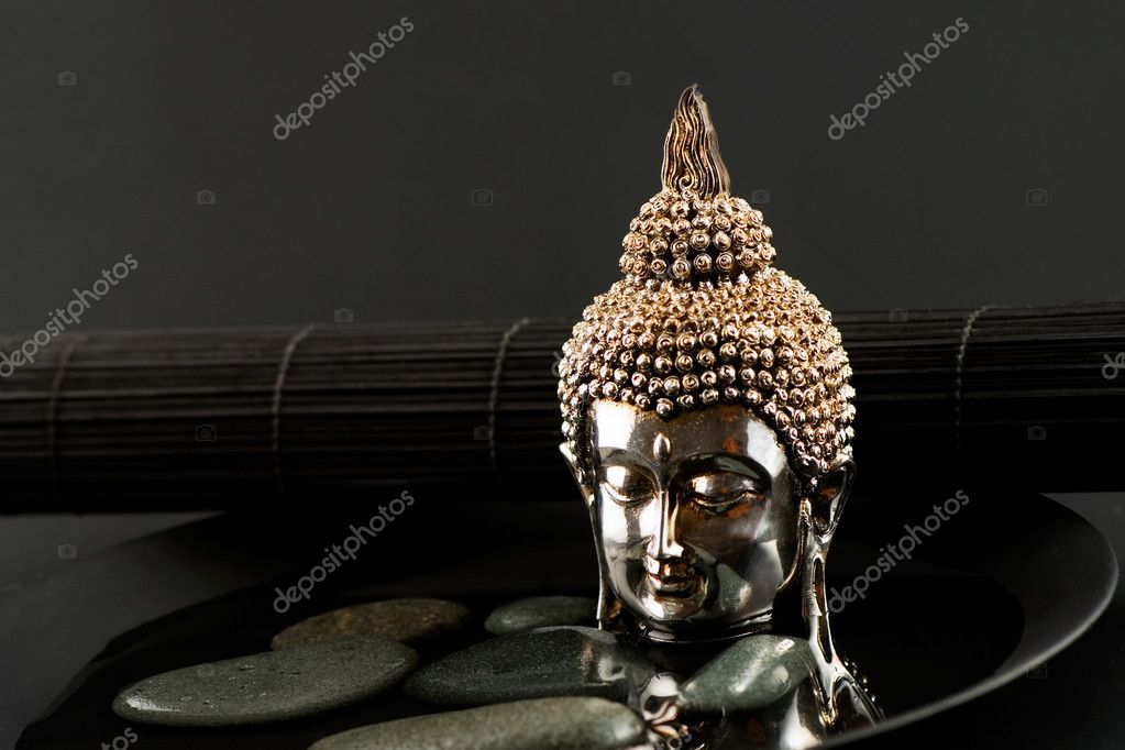 Still life asian style with buddha statue  Stock Photo #1757962