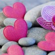 Stock Photo: Pink heart and orchid