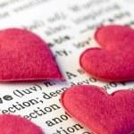 Hearts on text — Stock Photo #1867465