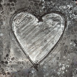 Painted heart gray and black - Stock Photo