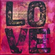 Artwork with love - Stockfoto